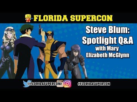 Steve Blum Q&A with Mary Elizabeth McGlynn at Florida Supercon 2016