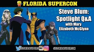 Steve Blum Q&A with Mary Elizabeth McGlynn at Florida Supercon…