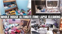 TIME LAPSE CLEANING | ACTUAL MESSY HOUSE
