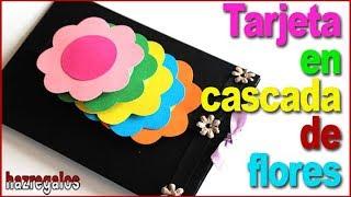 TARJETA EN CASCADA DE FLORES