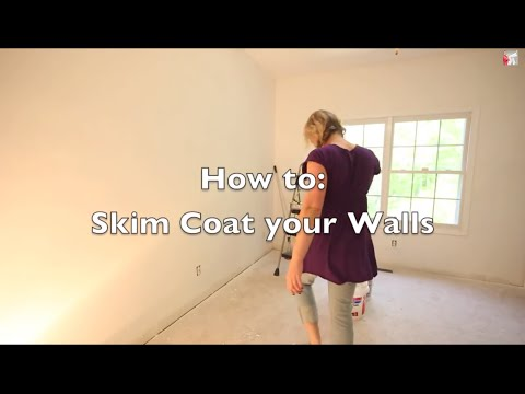 Skim Coat Ugly Textured Walls  Magic Trowel