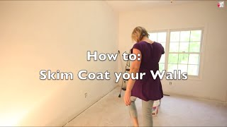 How to Skim Coat your Walls - get rid of ugly texture.