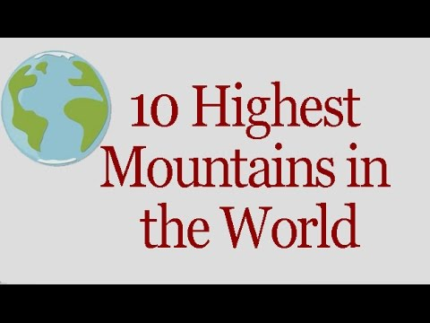 10 Highest Mountains in the World | General Knowledge