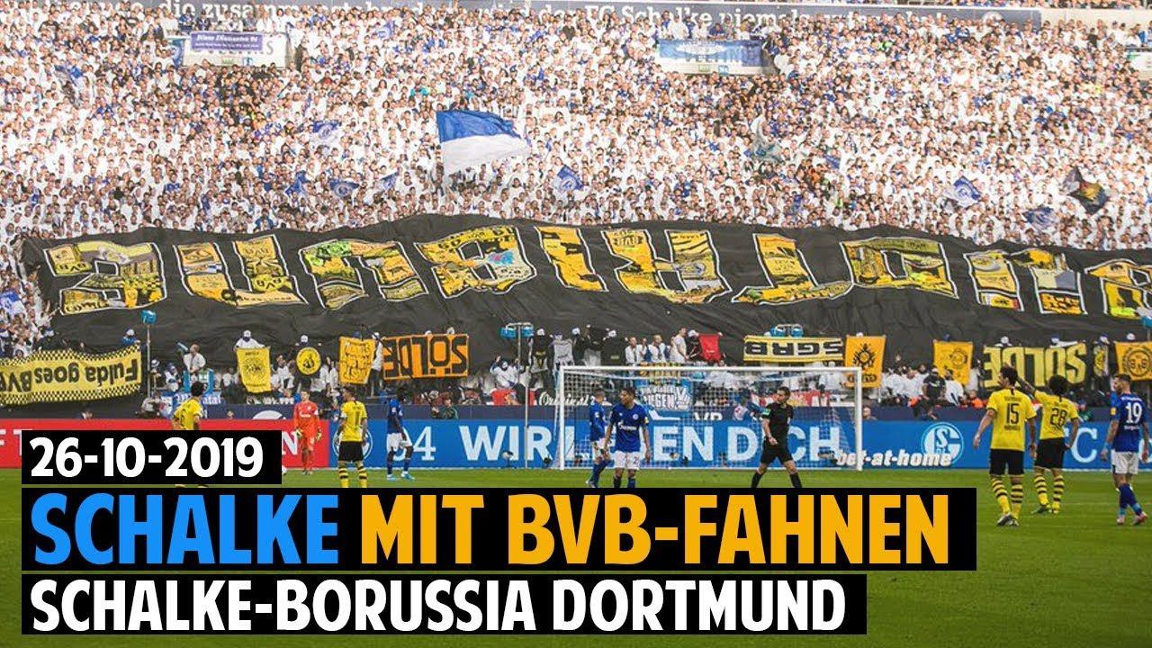Schalke-Fans Präsentieren BVB-Fahnen | Schalke 04 - Borussia Dortmund  2019.10.26 - YouTube