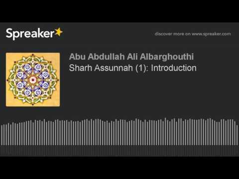 Sharh Assunnah (1): Introduction