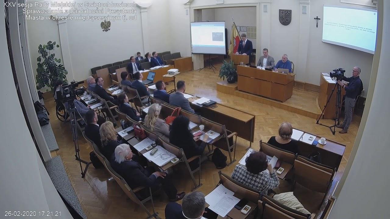 XXV Sesja Rady Miejskiej - 26.02.2020
