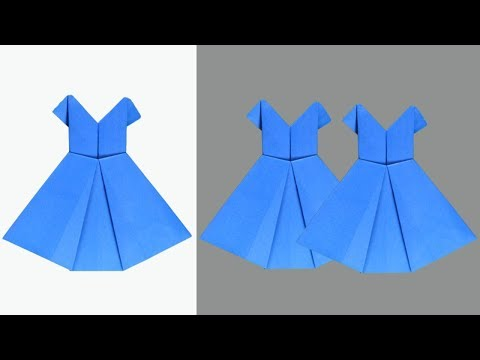 How to Make a Origami Paper Dress - Diy Paper Craft