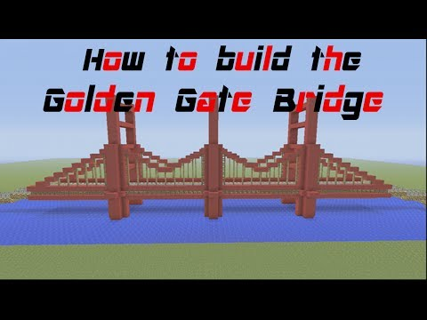 minecraft tutorial how to build the golden gate bridge. Black Bedroom Furniture Sets. Home Design Ideas