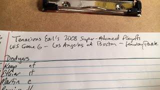 TBL 08SADVPLAYOFFS - WS Gm 6 - LAD@BOS - Stratomatic Baseball