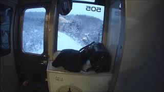 旭川発 下り 稚内行き 普通列車 雪の塩狩峠付近