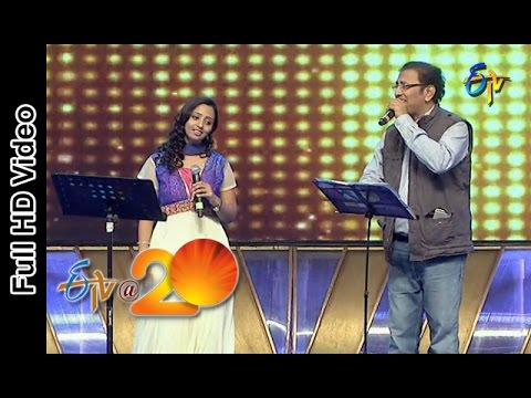 Vandemataram Srinivas,Malavika Performance - Akasamlo Oka Tara Song in Tenali ETV @ 20 Celebrations