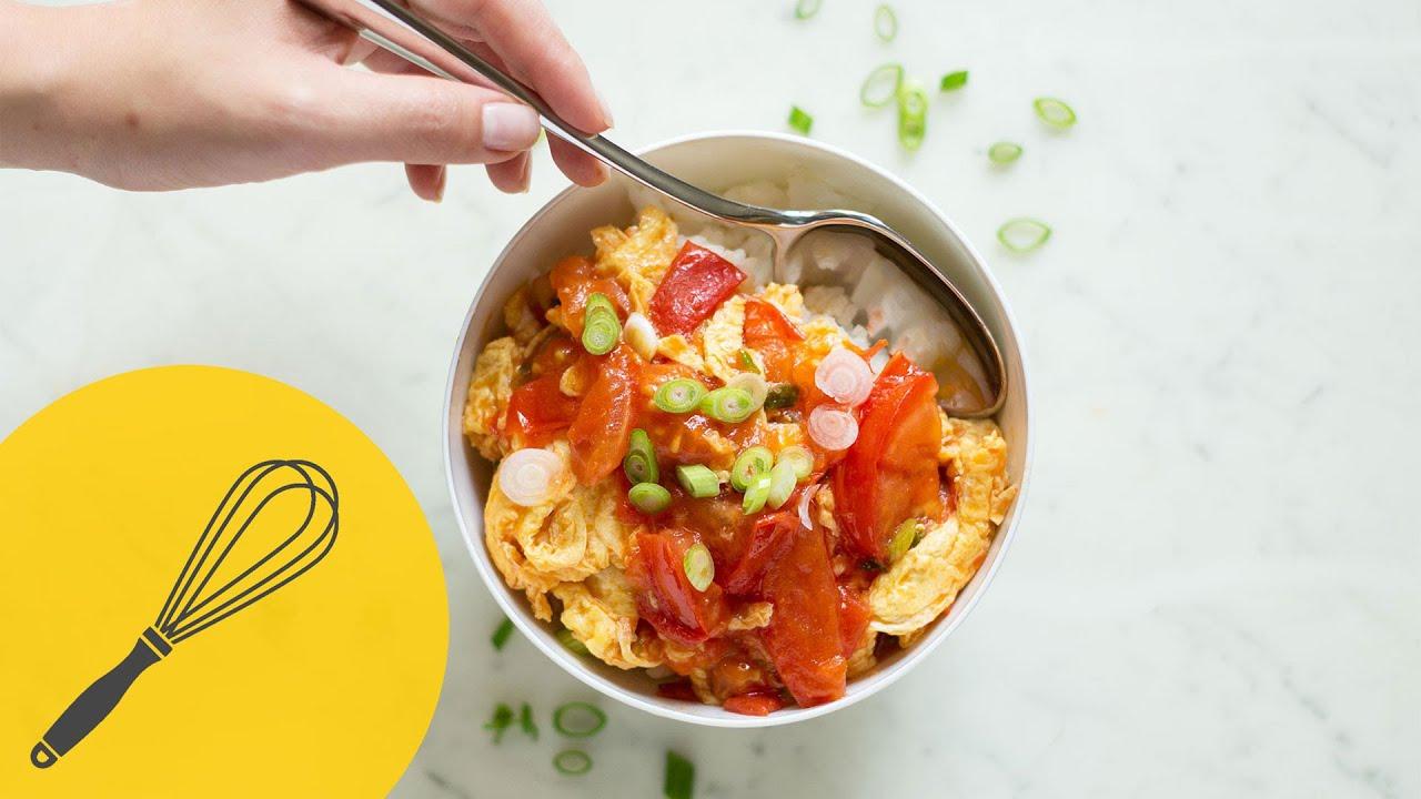 tomaten und ei in der pfanne leichtes abendessen in nur 20 minuten vegetarische k che youtube. Black Bedroom Furniture Sets. Home Design Ideas