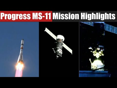 Russian Soyuz-2.1a Rocket Successfully Launches Progress MS-11 CargoShip and Docking  Highlights