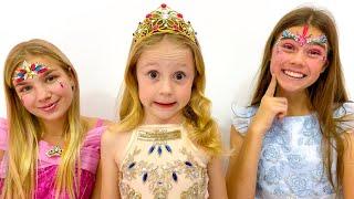 Nastya memainkan kontes melukis wajah, Sebuah kisah tantangan untuk anak-anak.