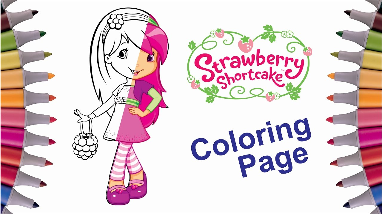 coloring raspberry torte strawberry shortcake coloring page for