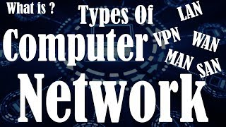 [Hindi] Types of Network | What is a Computer Network | LAN | WAN | MAN | CAN | SAN | VPN |Explained