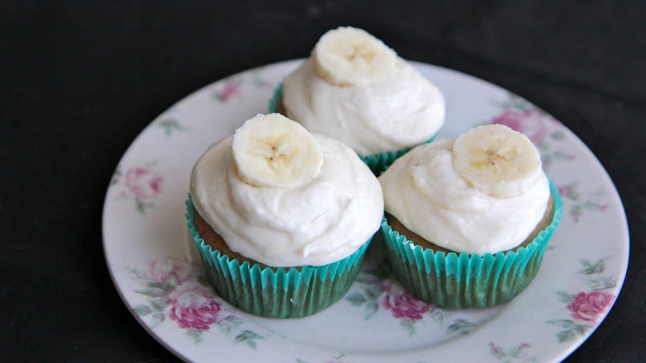 Banana Cupcakes Recipe With Banana Buttercream The Vegan Cupcake Project