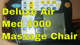 Deluxe Air Med 8000 Massage Chair Taking Off The Back Checking Motors