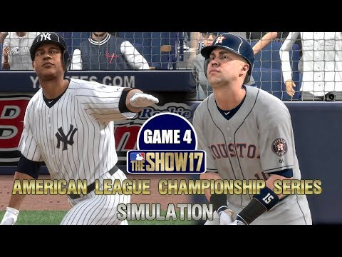MLB The Show 17 | Yankees vs Astros American League Championship Series Game 4 Simulation