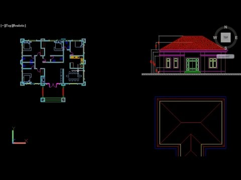 AutoCAD 3D House Tutorial, Beginner Basic Training