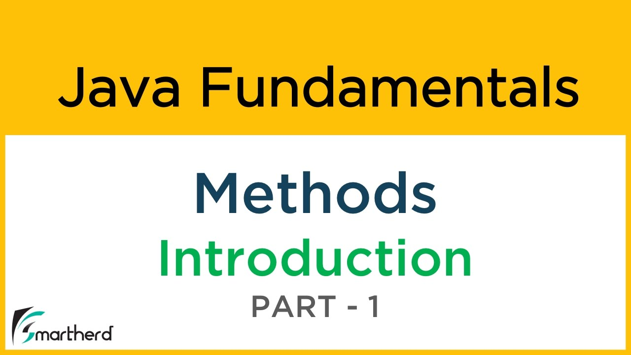 8 1 Java Tutorial for Beginners: METHODS and FUNCTIONS Part-1 - YouTube