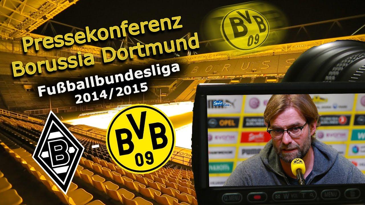 Borussia Mönchengladbach - Borussia Dortmund : BVB-Bundesliga Pk mit Jürgen Klopp