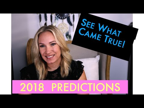 🔮2018 Predictions What Came True!💰Bitcoin, Trump, US