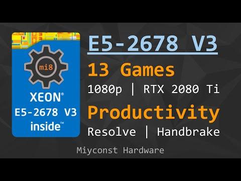 🇬🇧 Xeon E5-2678 V3 – for games and productivity | Hyper-Threading On/Off | DDR4-3200 vs 2133 ECC REG