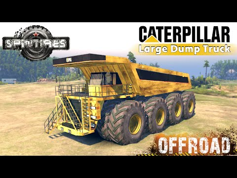 SpinTires Caterpillar 257M 8x8 Large Dump Truck