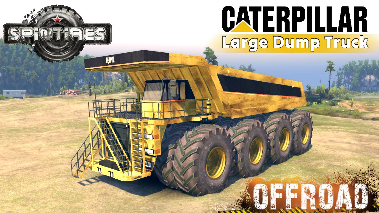 Spintires caterpillar 257m 8x8 large dump truck youtube