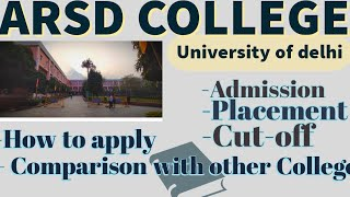 My 1st college review video | ARSD College | South Campus | University of delhi | Honest talk