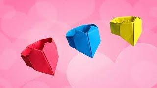 Как сделать оригами кольцо с сердцем