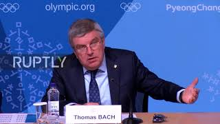 South Korea: Russian ban could be lifted if no further doping incidents - IOC