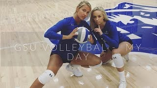 Vlog 6 // A DAY IN MY LIFE - GSU Volleyballer