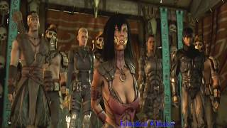 Mortal Kombat X (HD) Dvorah Sexy Yet Gross Kiss Of Death On Mileena!!
