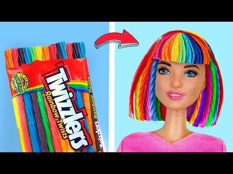 12 Verrückte Tricks Für Deine Barbie / Essbare Barbie Kleidung und Zubehör!