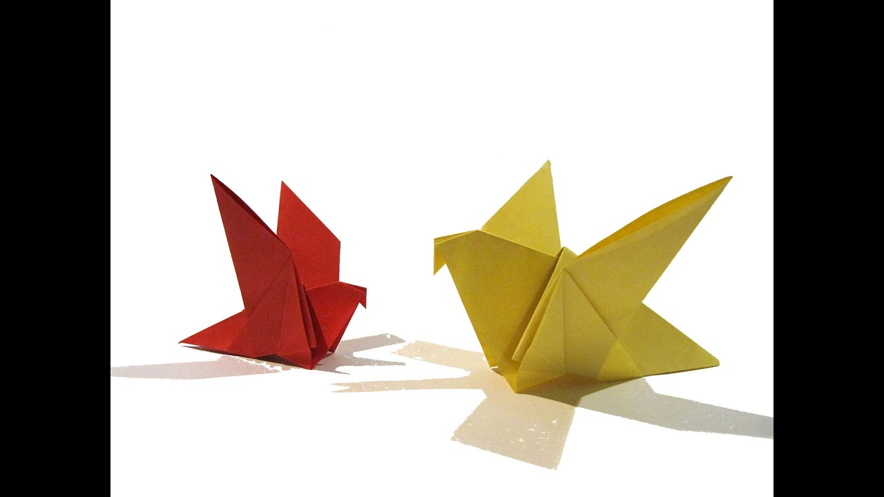 Origami Bird - Easy Origami Tutorial - How to make an easy origami ...