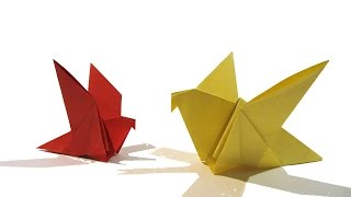 Easter Origami Bird - Easy Origami Tutorial - How to make an easy origami bird