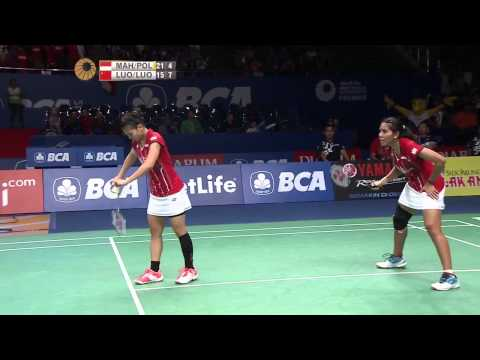 BCA Indonesia Open 2015 | Badminton QF M1-WD | Maheswari/Polii vs Luo Ying/Luo Yu