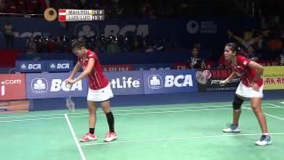 BCA Indonesia Open 2015 | Badminton QF M1-WD | Maheswari/Polii Vs Luo Ying/Luo Yu