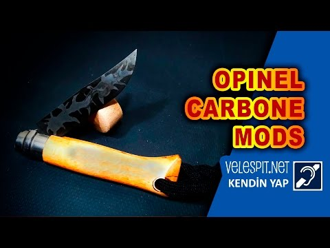 Opinel Carbone Knife Mod | DIY Camuflage Damascus Modifications | Create your own style