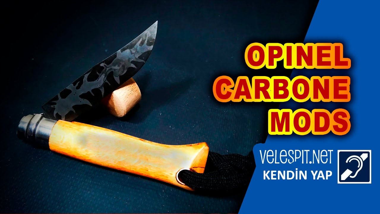 Opinel Carbone Knife Mod Diy Camuflage Damascus Modifications
