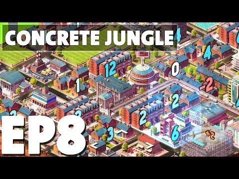 Let's Play Concrete Jungle Episode 8 - Redwood Coast - Deck Building Puzzle Game