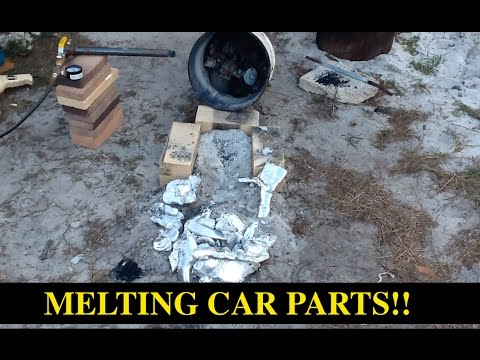 MELTING CAR PARTS with Propane Furnace