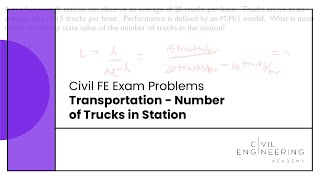 Civil FE Exam - Transportation - Number of Trucks in Station