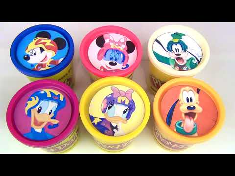 Mickey Mouse & the Roadster Racers Playdoh  Lids Toy Surprises