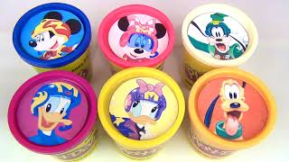 Teaching Colors with Mickey Mouse & the Roadster Racers Play-Doh Lids
