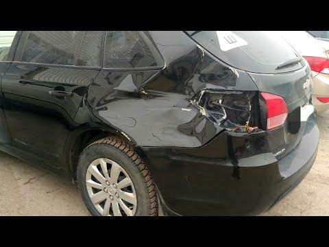 Chevrolet Cruze замена крыла, часть 1
