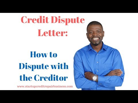 Credit Dispute Letter: How to Dispute with the Creditor: 1-888-959-1462