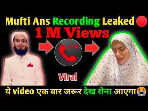 Download Mufti Anas Viral Recording   Sanaa Khan  